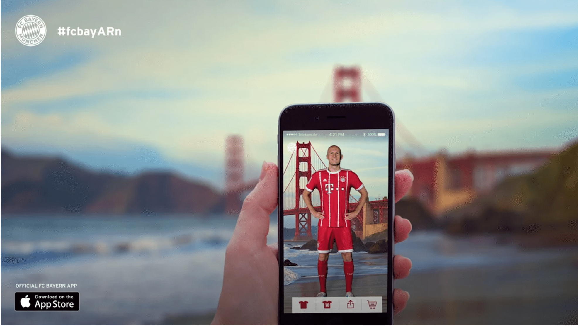We love this sport marketing campaign from 2017. Bayern Munchen launched the first augmented reality app.